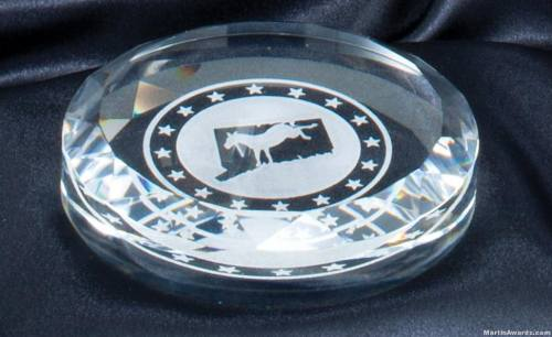 Round Crystal Paperweight