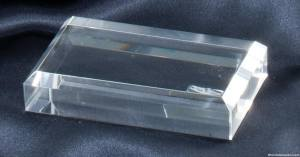 Crystal Business Card Paperweight