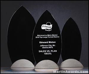 Flame Award with Gun Metal base