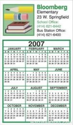 Business Calendar Magnet - Four Color Process