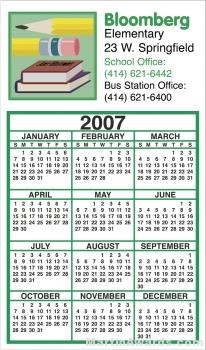 Business Calendar Magnet – Four Color Process 1