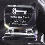 Crystal Glass Awards – 6″ x 5 1/2″ Prism Optical Crystal 1