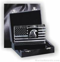Genuine Crystal Patriot Design With Black Base