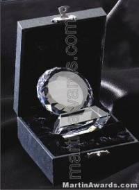 "Circular Crystal Glass Award "" Prism Optical Crystal"