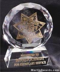 Round Optical Crystal Prism Award