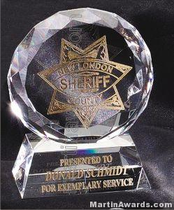 Crystal Glass Awards – 4″ x 5″ Prism Optical Crystal 1