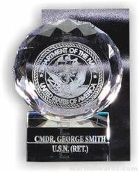 "Crystal Glass Awards - 4"" x 5"" Genuine Prism Optical Crystal With Base"