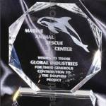 Crystal Glass Awards – 6″ x 7″ Genuine Prism Optical Crystal 1
