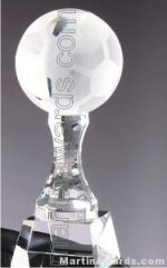 Soccerball Crystal Glass