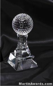 """2 1/2"""" x 6"""" Golfball Prism Optical Crystal Glass"""
