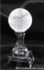 "3"" x 8"" Baseball Prism Optical Crystal Glass"