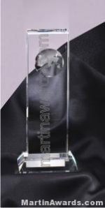 Crystal Glass Award Thin Rectangle