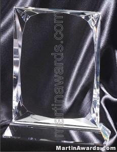 5″ x 8″ Genuine Prism Optical Crystal Glass Awards 1