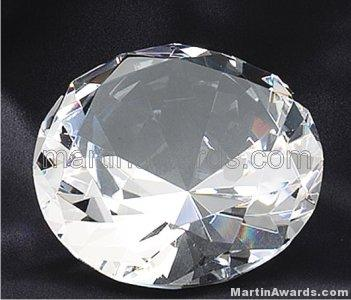 4″ Diameter Genuine Glass Awards Diamond Shape 1