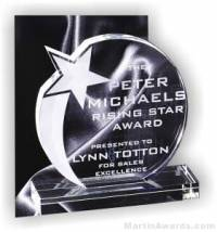 Rising Star Round Crystal Award