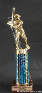 Blue Single Column Male Baseball/Softball Trophy