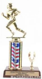 Red/White/Blue Single Column Football With 1 Eagle Trophy