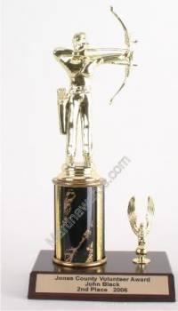 Black Single Column Male Archer With 1 Eagle Trophy