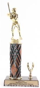 Wood Single Column Male Baseball With 1 Eagle Trophy 1