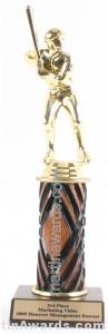 Wood Single Column Male Baseball Trophy