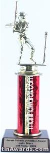 Red Single Column Male T-Ball Trophy 1