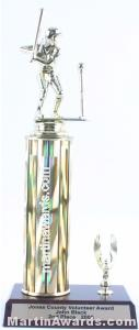 Gold Single Column Female T-Ball With 1 Eagle Trophy