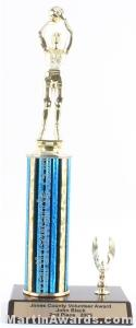 Blue Single Column Female Basketball With 1 Eagle Trophy