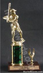 Green Single Column Male Baseball/Softball With 1 Eagle Trophy