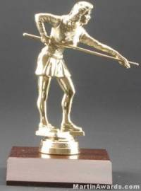 Female Billiards Trophy