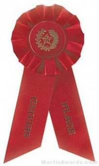 """Rosette, 8.5"""", Second Place Ribbons"""