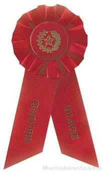 "Rosette, 8.5"", Second Place Ribbons"