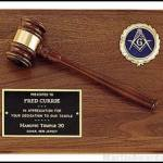 Plaque – Wood Gavel On Walnut Plaques with Activity Insert 1