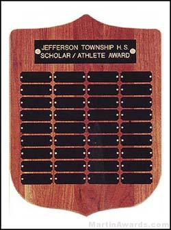 Plaque - Shield Shape Perpetual Plaque 36 Plates