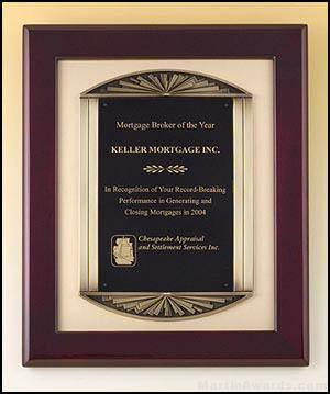 Athena's Scroll Rosewood Plaque