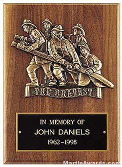 Plaque with Fireman Cast Figure