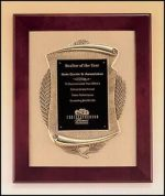 Plaque - Rosewood Piano Finish Frame with Bronze Cast