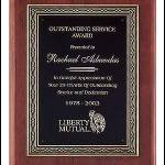 Plaque – Rosewood Piano-Finish Plaque with Cast Antique Bronze Finished Frame 1