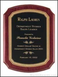 Regal Series Award Plaque