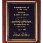 Plaque – Rosewood Stained Piano-Finish Plaques with Antique Bronze Metal Frame 1