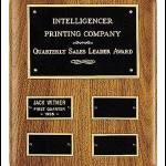 Plaque – American Walnut Perpetual Plaque for Quarterly Awards 1