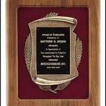 Plaque – American Walnut Plaques w/Antique Bronze Casting 1