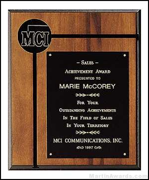 Plaque - American Walnut Plaques with Activity Insert