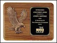Plaque - Sculptured Relief Eagle Casting Plaques