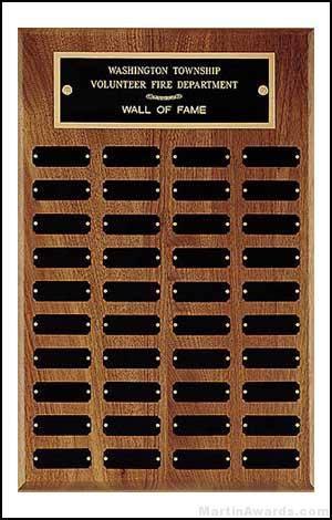 Perpetual Plaque - 40 Black Brass Plates