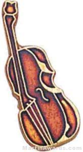 """3/4"""" Cello Or Bass Lapel Pin"""