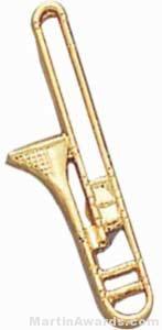 "3/4"" Trombone Lapel Pin"