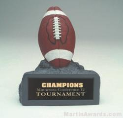 Brown Football On Base Gold Resin Trophy 1