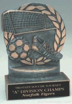 Soccer Wreath Resin Trophy 1
