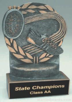 Track Wreath Resin Trophy