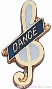 3/4″ Enameled Dance Pin 1